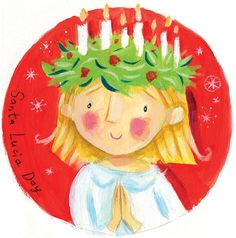 St lucia day decorations clipart.