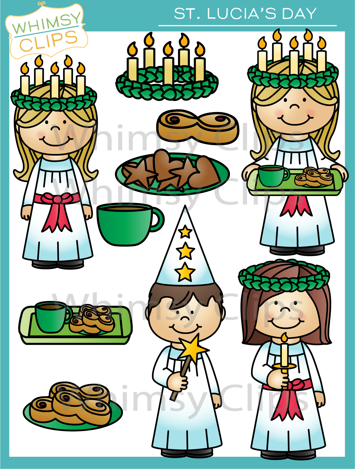 St. Lucia's Day , Images & Illustrations.