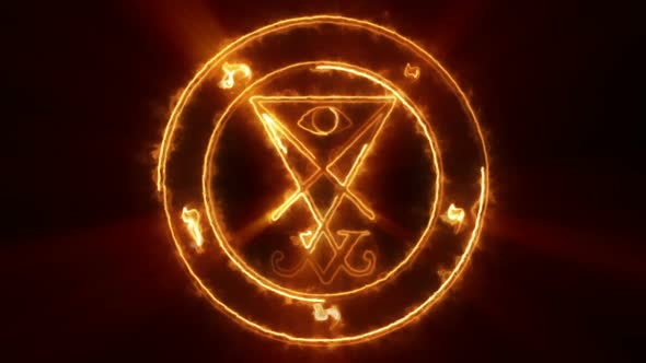 Lucifer Occult Symbol Loop.