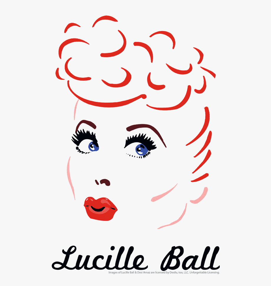 Lucille Ball Drawing Pullover Hoodie.