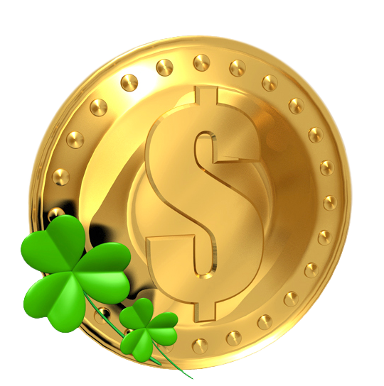 Transparent Gold Saint Patrick Lucky Coin PNG Picture.