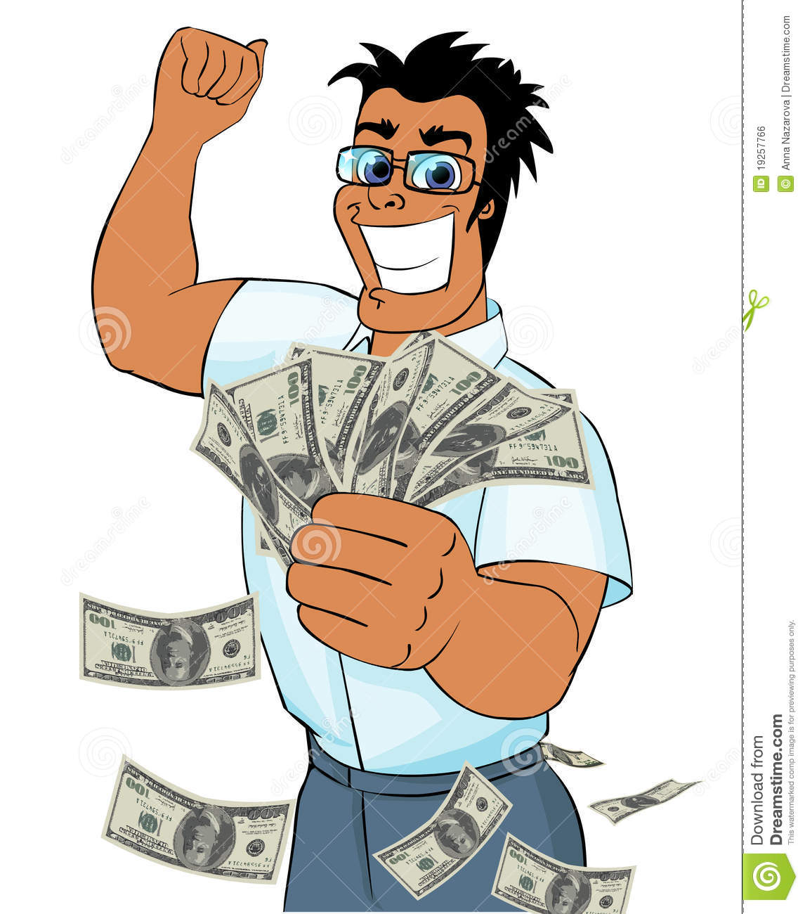 Showing post & media for Cartoon lucky guy clip art.