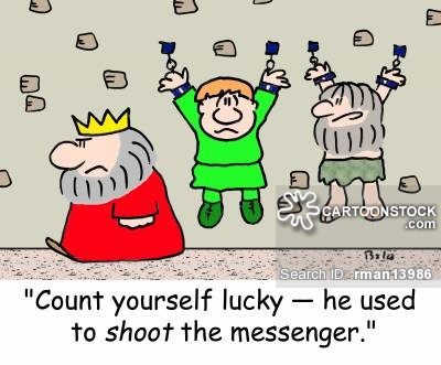 Shoot The Messenger Cartoons and Comics.