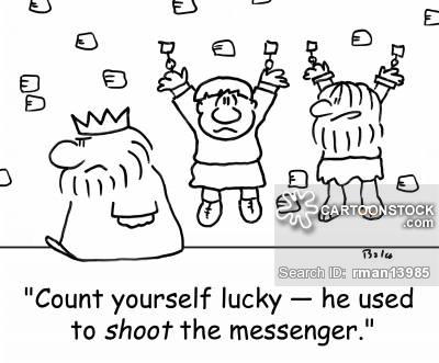 Shoot The Messenger Cartoons and Comics.