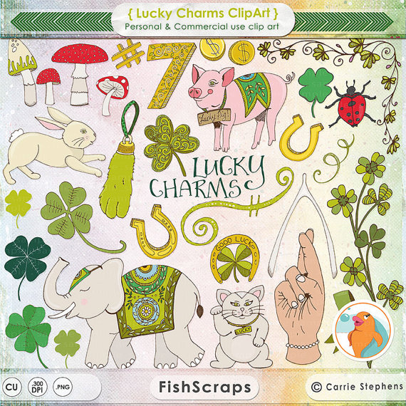 Irish Lucky Charm ClipArt, St Patrick's Day Clip Art, Good Luck.