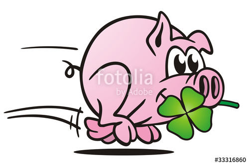 """Lucky Pig Running"""" Stock photo and royalty."""