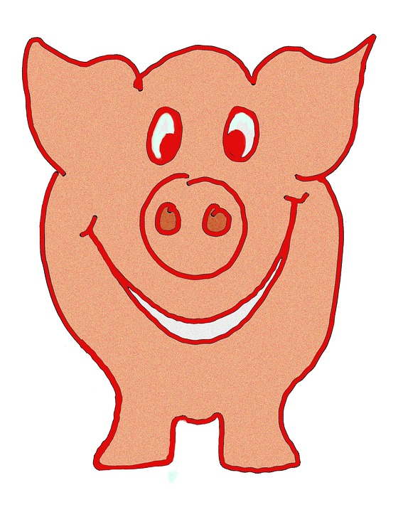 Free illustration: Lucky Pig, Pig, Luck, Happy, Laugh.