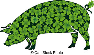 Lucky pig Clipart and Stock Illustrations. 156 Lucky pig vector.