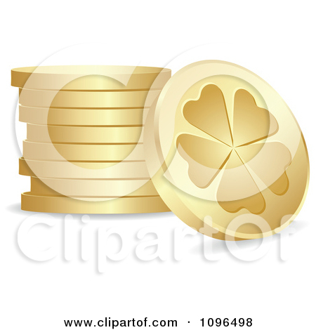 Clipart Stone Clover Or Poker Clubs.