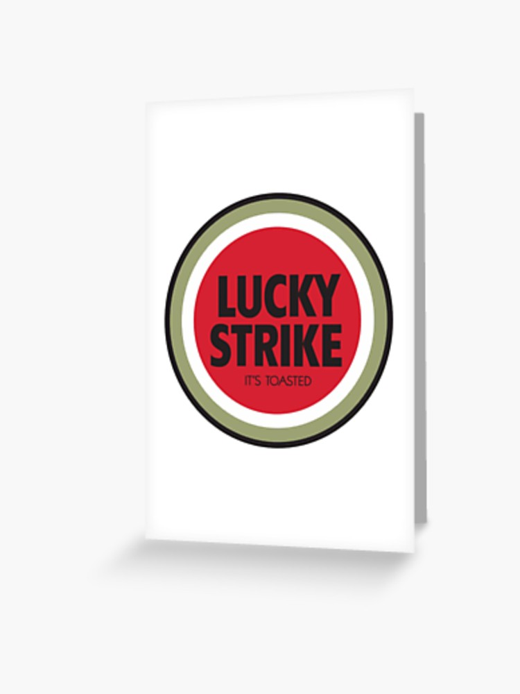 Lucky Strike Cigarette Logo.