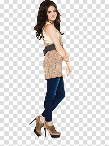 Lucy Hale, woman wearing brown dress transparent background.
