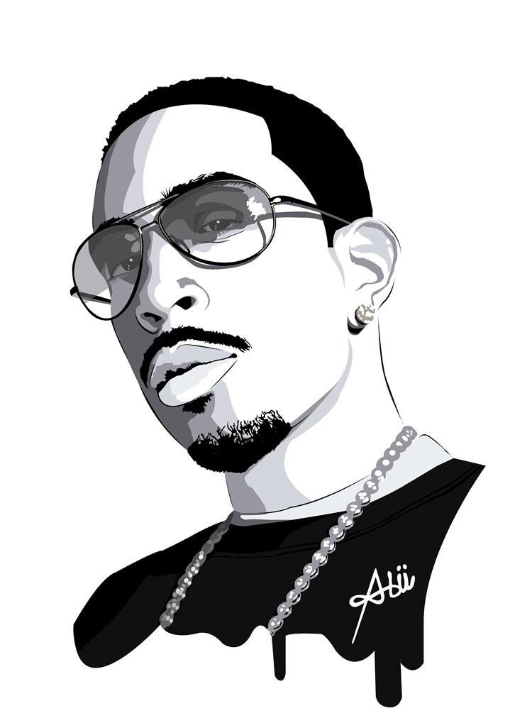 Vector Drawing: Ludacris.