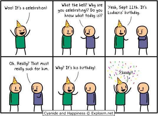 "Cyanide & Happiness on Twitter: ""By @MattMelvin. Happy Birthday."