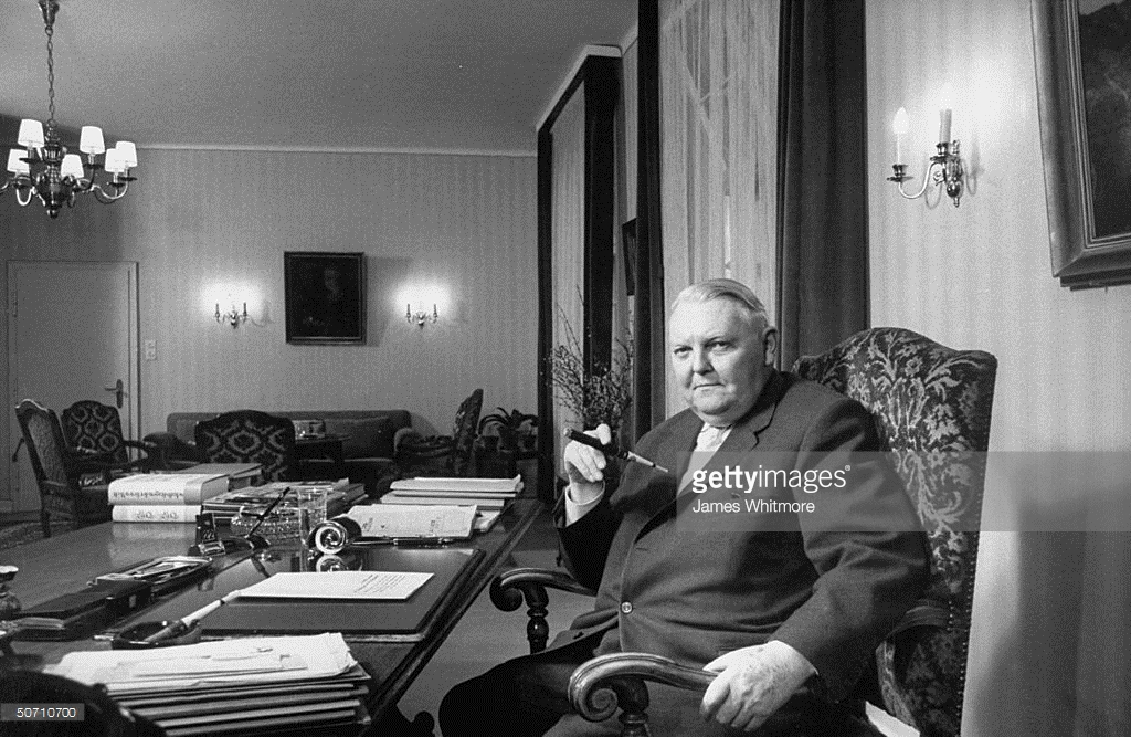 45 Years Ago Ludwig Erhard Was Re.