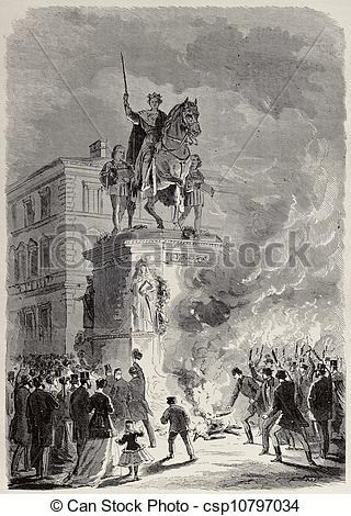 Drawings of Ludwig I of Bavaria funeral.