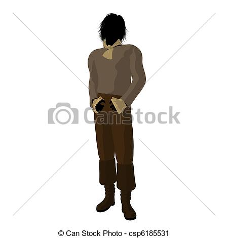 Clipart of Ludwig Van Beethoven Illustration Silhouette.