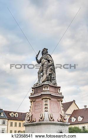 Stock Photography of Duke Eberhard Ludwig in Ludwigsburg, Germany.