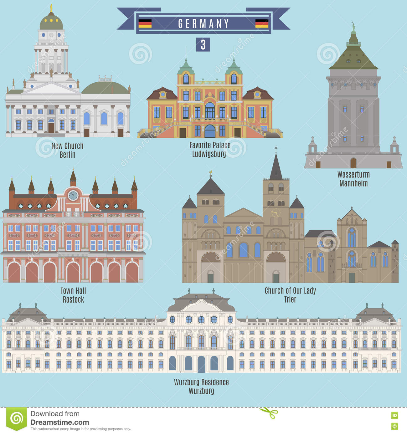 Famous Places In Germany Editorial Image.