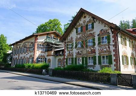 Stock Photograph of Oberammergau, Germany k13710469.