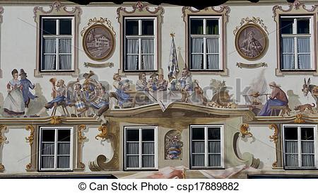Pictures of Luftmalerei in Oberammergau.
