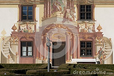 Luftmalerei In Oberammergau Stock Photos.