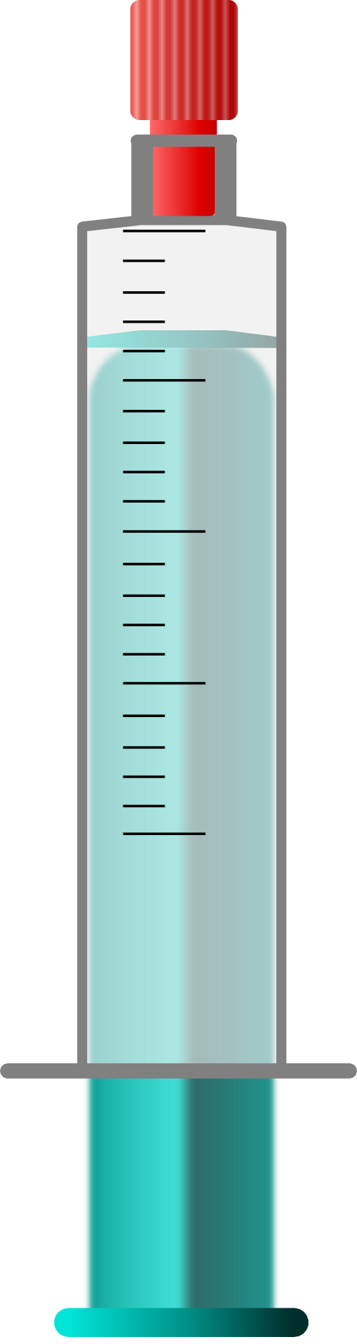 Spritze Luerlock 20 Ml Einfach Clipart.