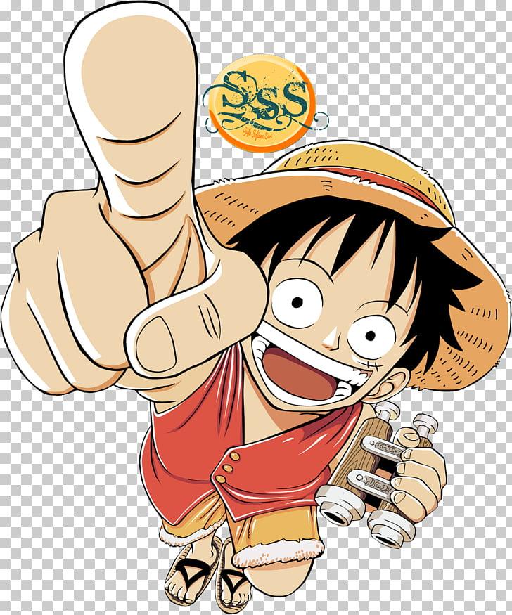 Monkey D. Luffy One Piece Manga Chibi , one piece PNG.