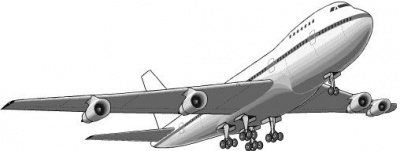 Flugzeug start clipart.