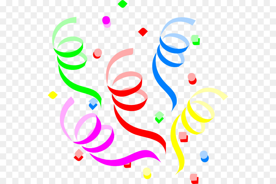 Geburtstag Kuchen Serpentine streamer Party Clip art.