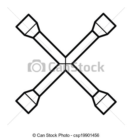 Lug wrench Vector Clipart Royalty Free. 22 Lug wrench clip art.