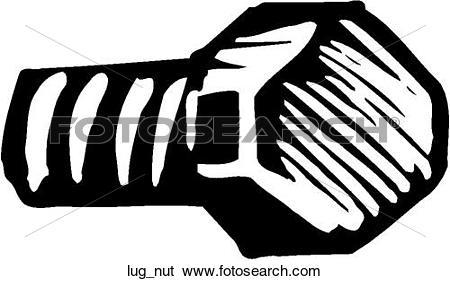 Clip Art of Lug Nut lug_nut.