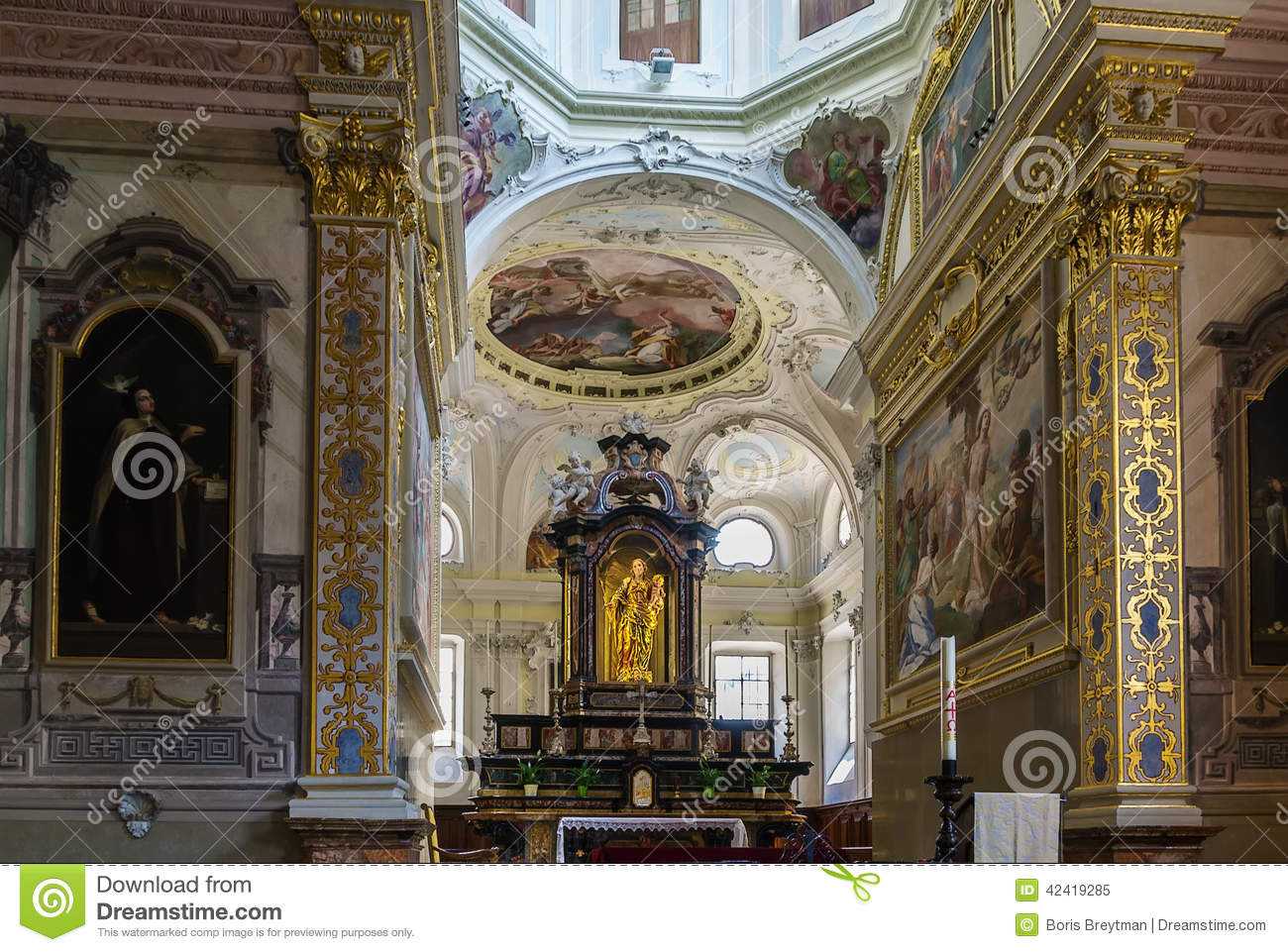 Church San Rocco, Lugano Stock Photo.
