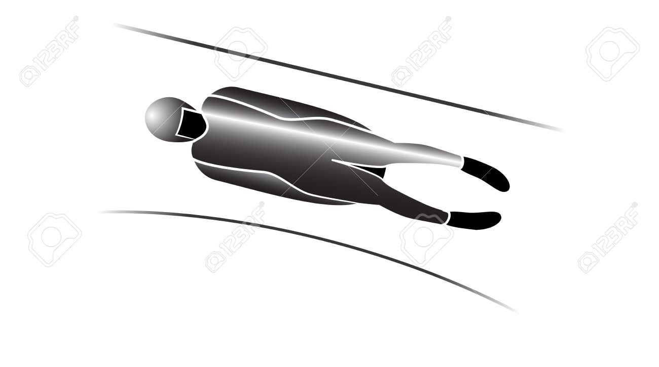 Luge Winter Sports Icons In Grey Royalty Free Cliparts, Vectors.
