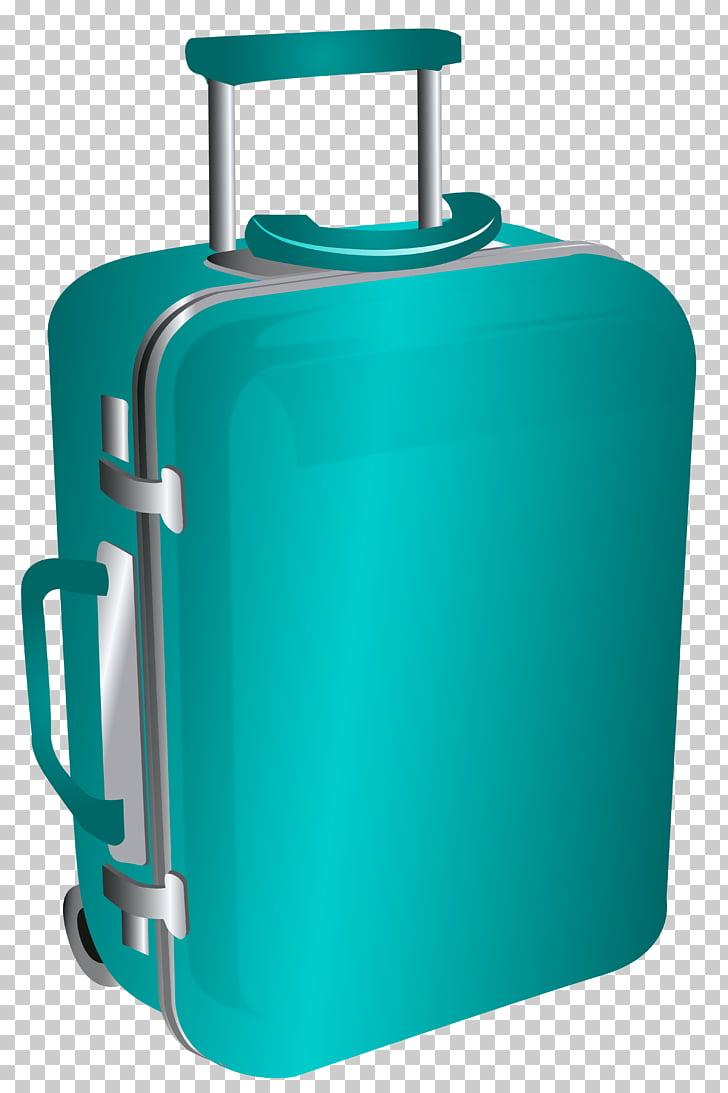 Suitcase Baggage , Blue Trolley Travel Bag , teal travel.