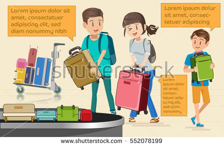 Carrying Luggage Stock Vectors, Images & Vector Art.
