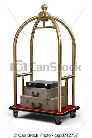 Stock Illustrations of Bell Cart on White.