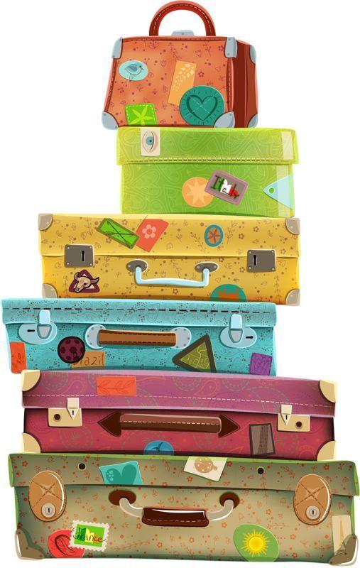 Travel Suitcase Clip Art Free em 2019.