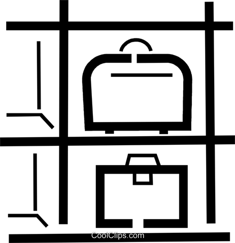 baggage/luggage compartment Royalty Free Vector Clip Art.