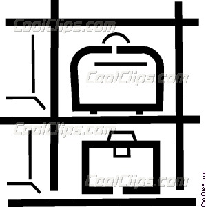 baggage/luggage compartment Vector Clip art.