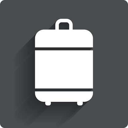 Travel luggage bag icon. Baggage symbol. Clipart Image.