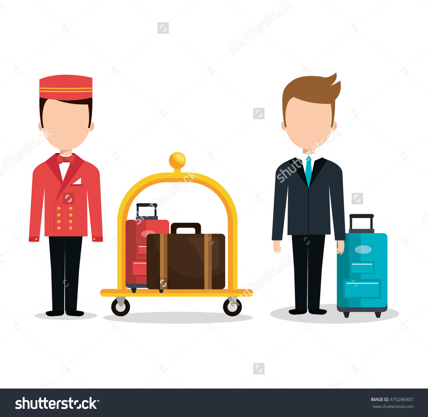 Luggage Transport Service Isolated Icon Vector Stock Vector.
