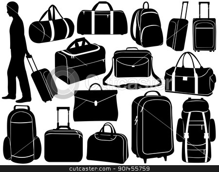 Luggage bags clipart.