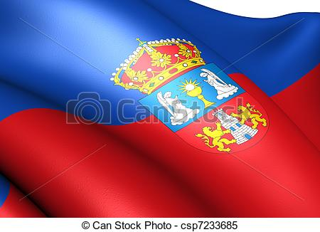 Stock Illustrations of Flag of Lugo. Close up. csp7233685.