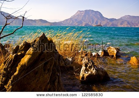Lugu Lake Stock Photos, Images, & Pictures.