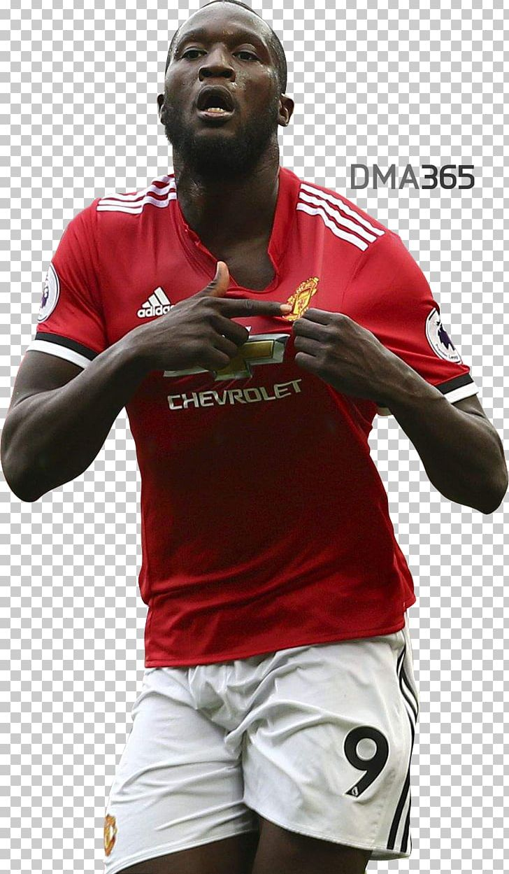 Romelu Lukaku Manchester United F.C. Football Player PNG.