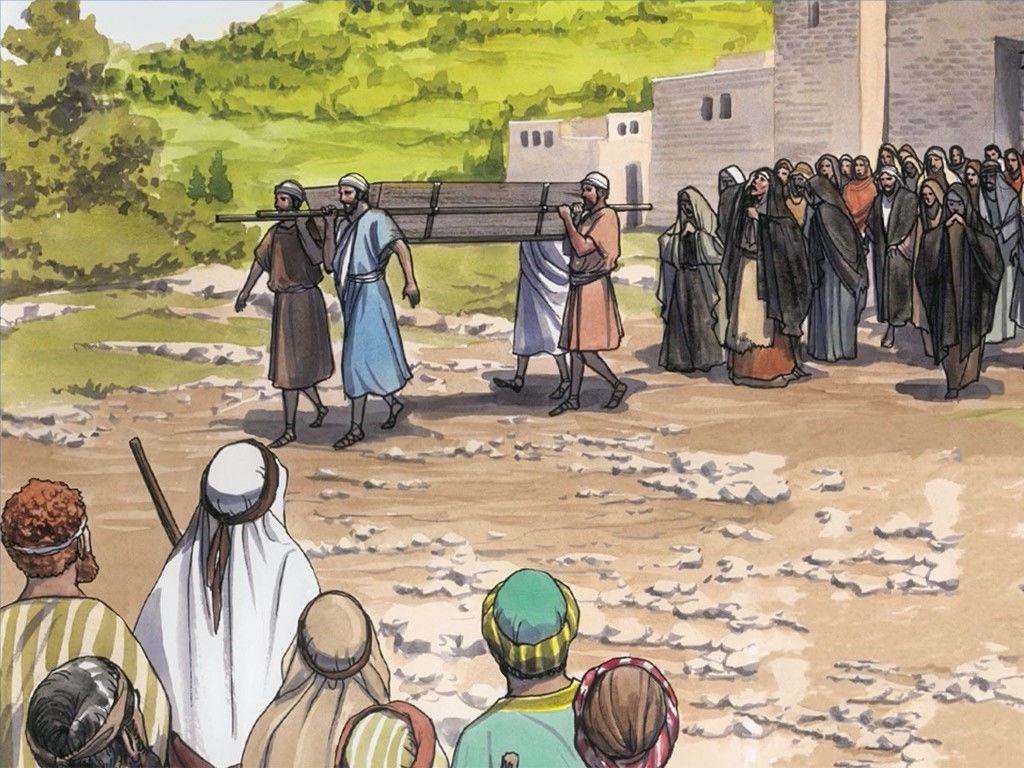 FreeBibleimages :: Jesus raises the widow\'s son :: Jesus.