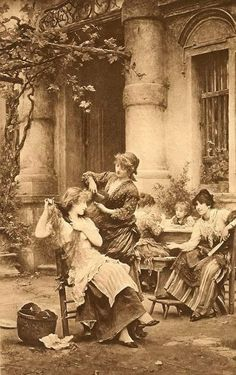 9x6 Art Print C19th Victorian Girl Instructing Dolly Sleeping.
