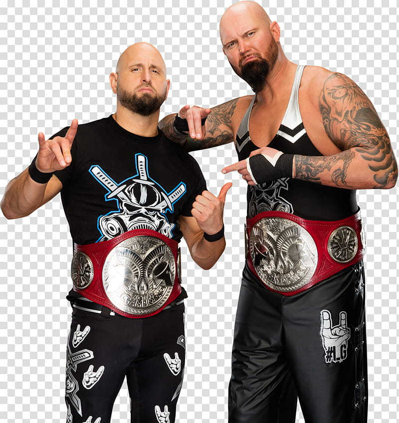 Luke Gallows and Karl Anderson transparent background PNG.