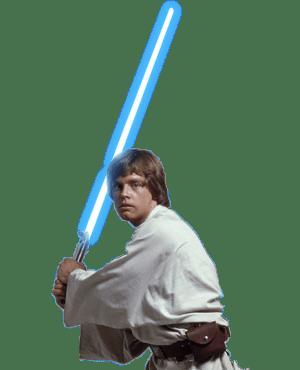 Luke Skywalker Lightsaber transparent PNG.