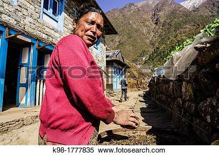 Stock Image of Lukla Sagarmatha National Park, Khumbu Himal, Nepal.